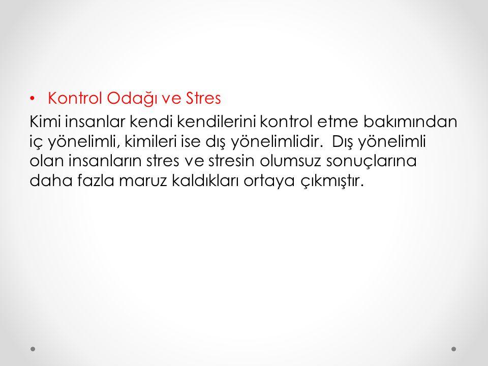 Kontrol Odağı ve Stres