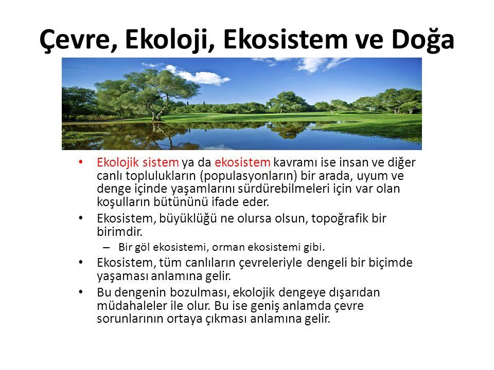 Çevre, Ekoloji, Ekosistem ve Doğa