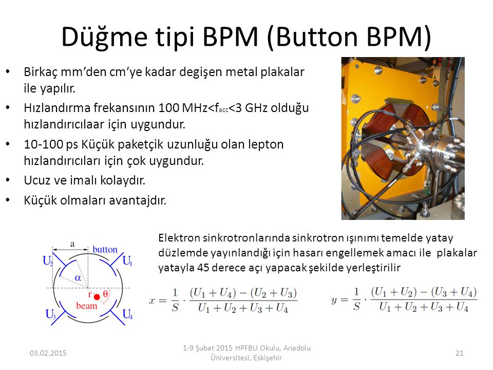 Düğme tipi BPM (Button BPM)