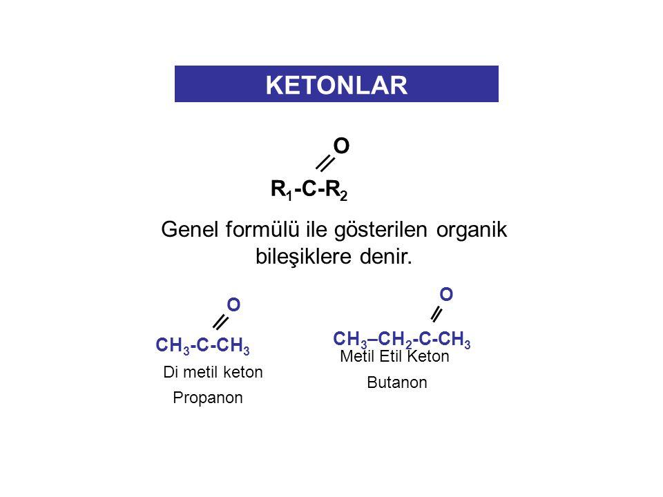 Genel formülü ile gösterilen organik bileşiklere denir.