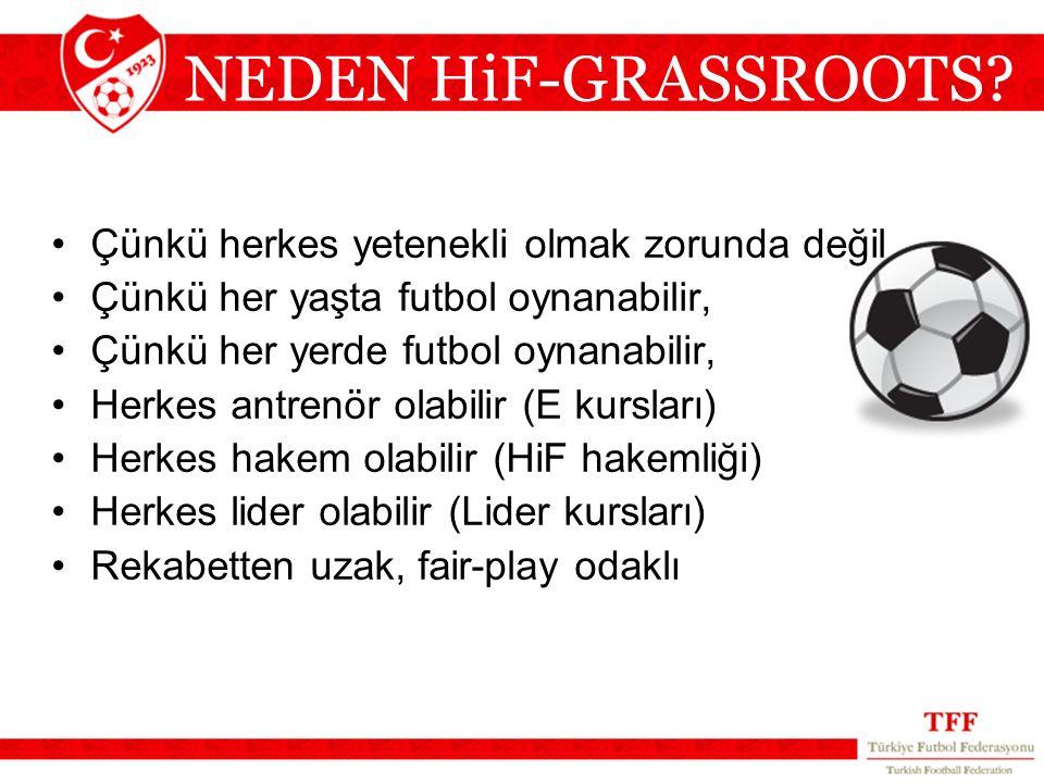 NEDEN HiF-GRASSROOTS Çünkü herkes yetenekli olmak zorunda değil