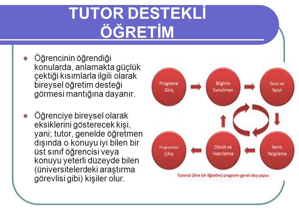 TUTOR DESTEKLİ ÖĞRETİM