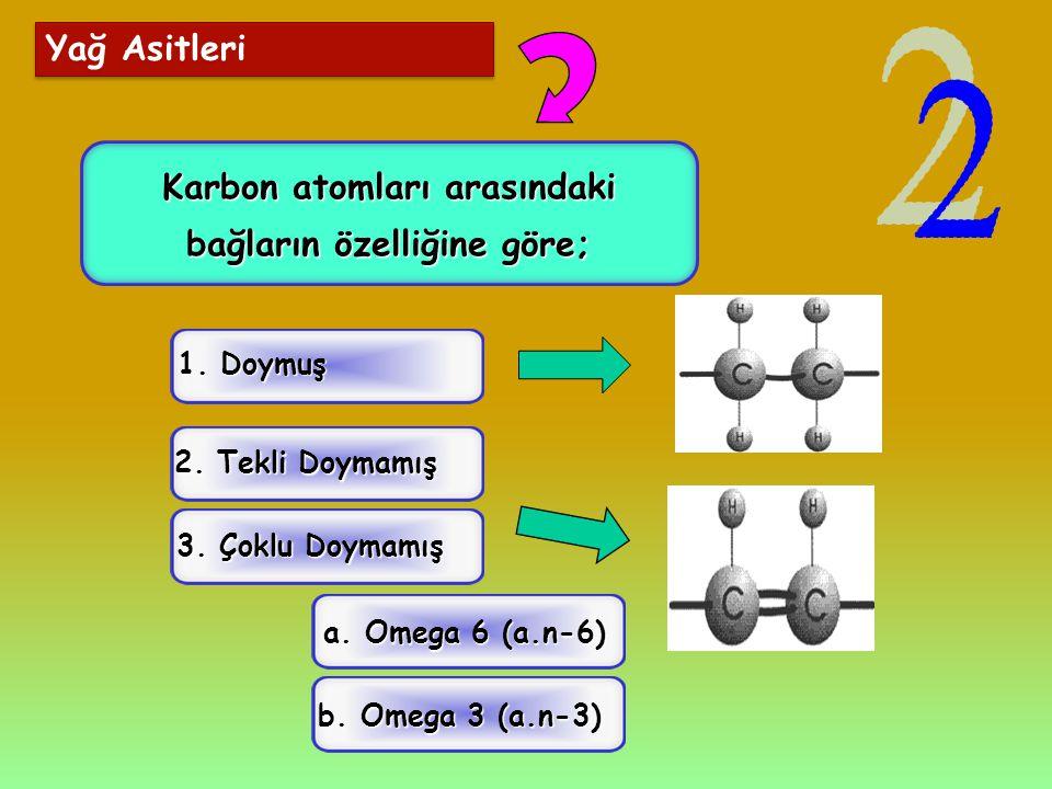 Karbon atomları arasındaki bağların özelliğine göre;