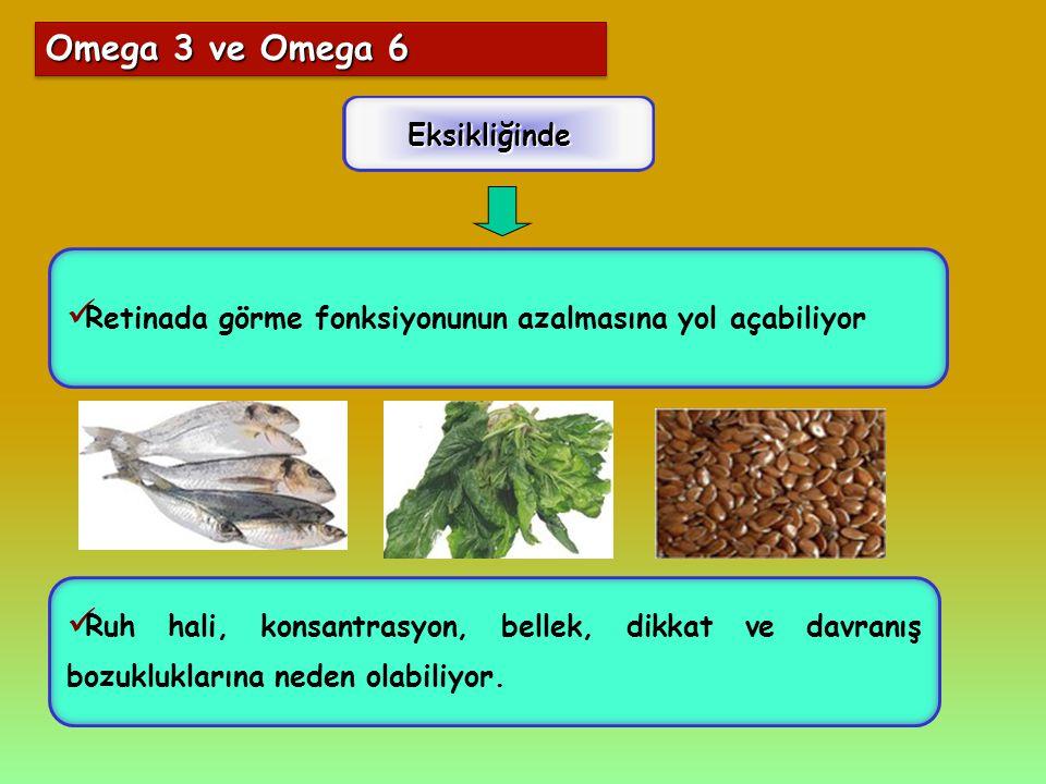 Omega 3 ve Omega 6 Eksikliğinde