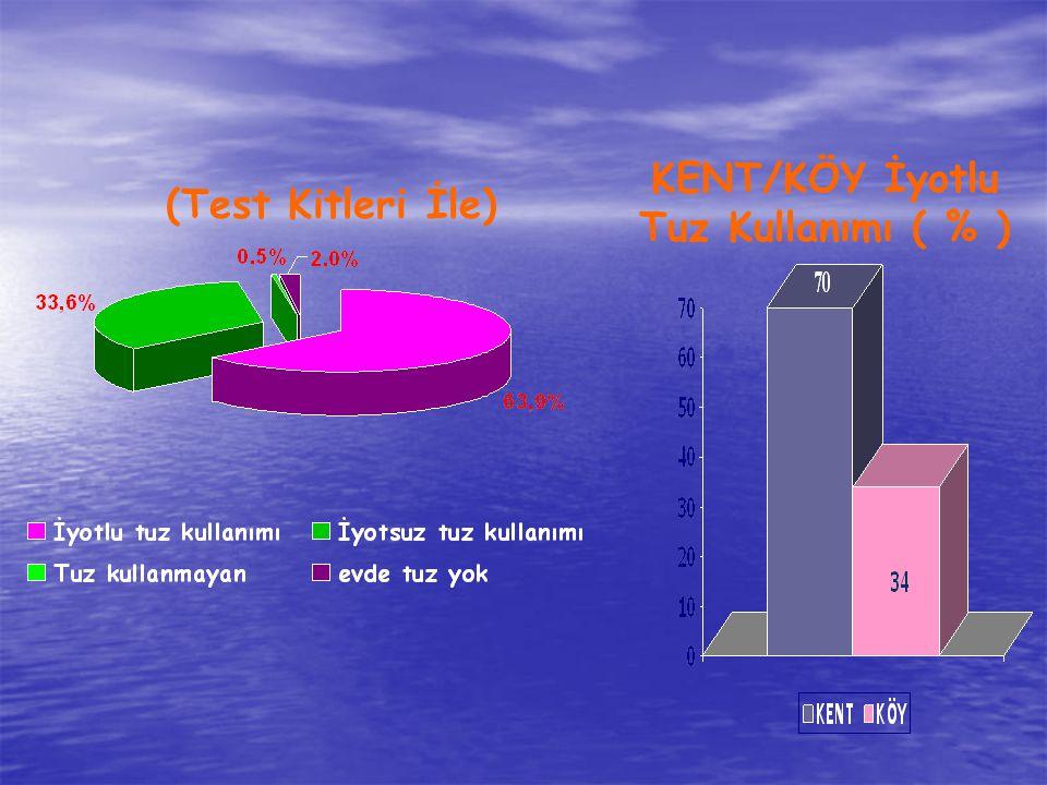 KENT/KÖY İyotlu Tuz Kullanımı ( % )