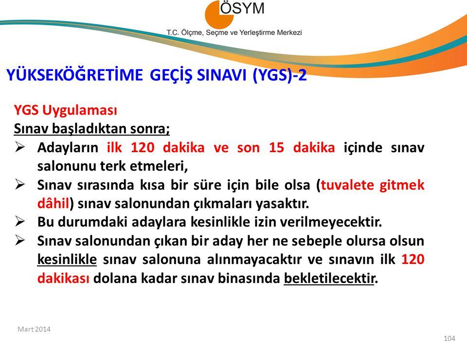 YÜKSEKÖĞRETİME GEÇİŞ SINAVI (YGS)-2