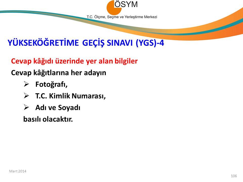 YÜKSEKÖĞRETİME GEÇİŞ SINAVI (YGS)-4