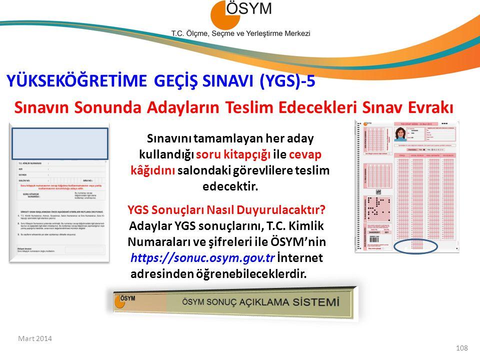 YÜKSEKÖĞRETİME GEÇİŞ SINAVI (YGS)-5