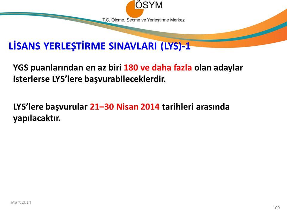 LİSANS YERLEŞTİRME SINAVLARI (LYS)-1