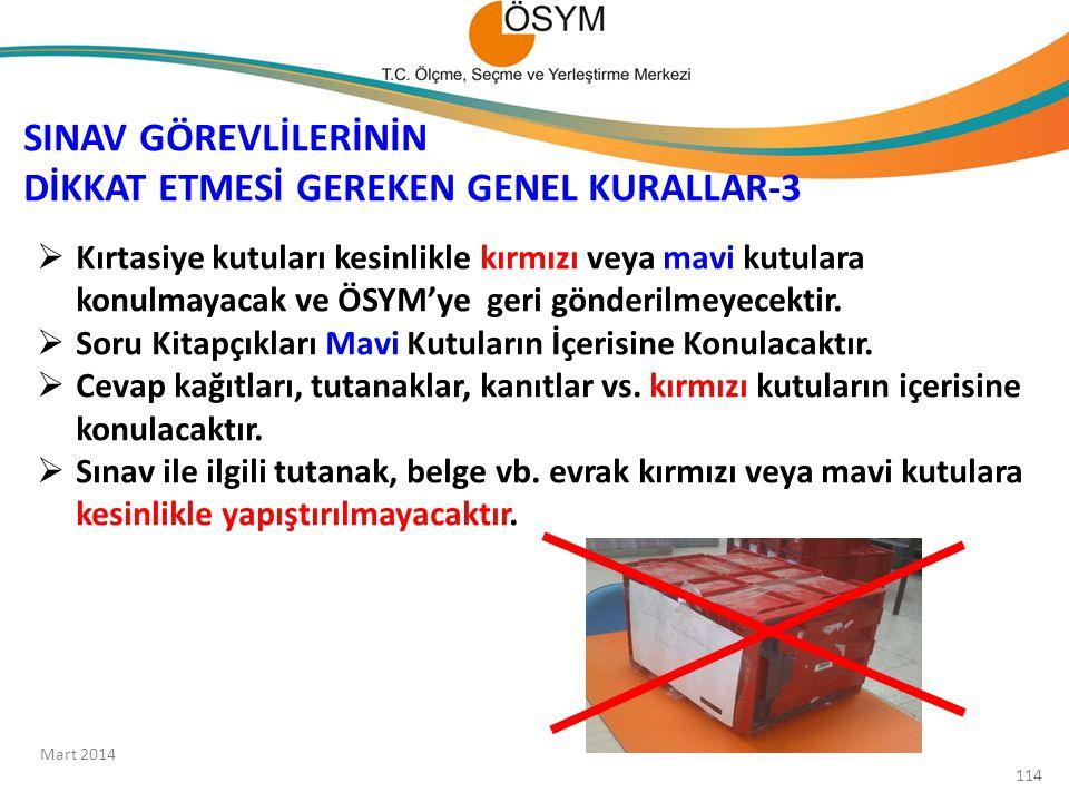 SINAV GÖREVLİLERİNİN DİKKAT ETMESİ GEREKEN GENEL KURALLAR-3
