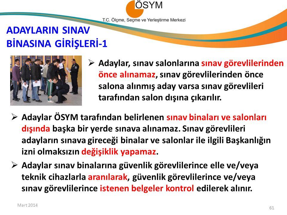 ADAYLARIN SINAV BİNASINA GİRİŞLERİ-1