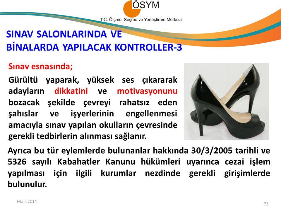 SINAV SALONLARINDA VE BİNALARDA YAPILACAK KONTROLLER-3