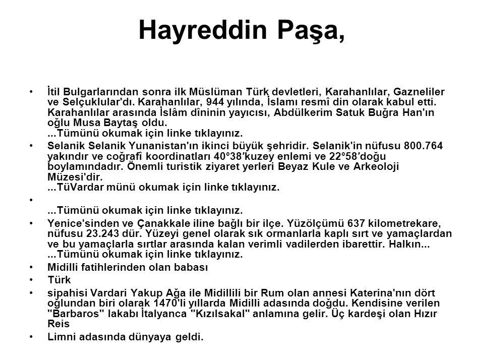 Hayreddin Paşa,