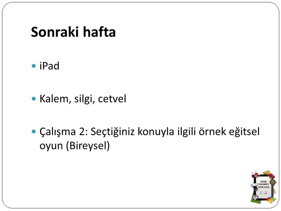 Sonraki hafta iPad Kalem, silgi, cetvel