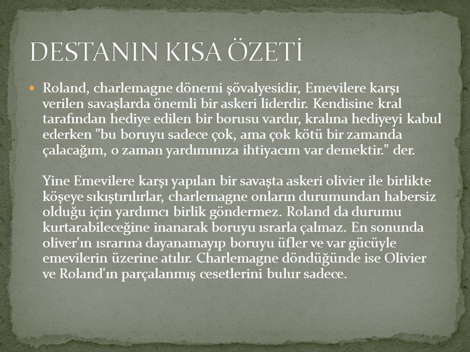 DESTANIN KISA ÖZETİ