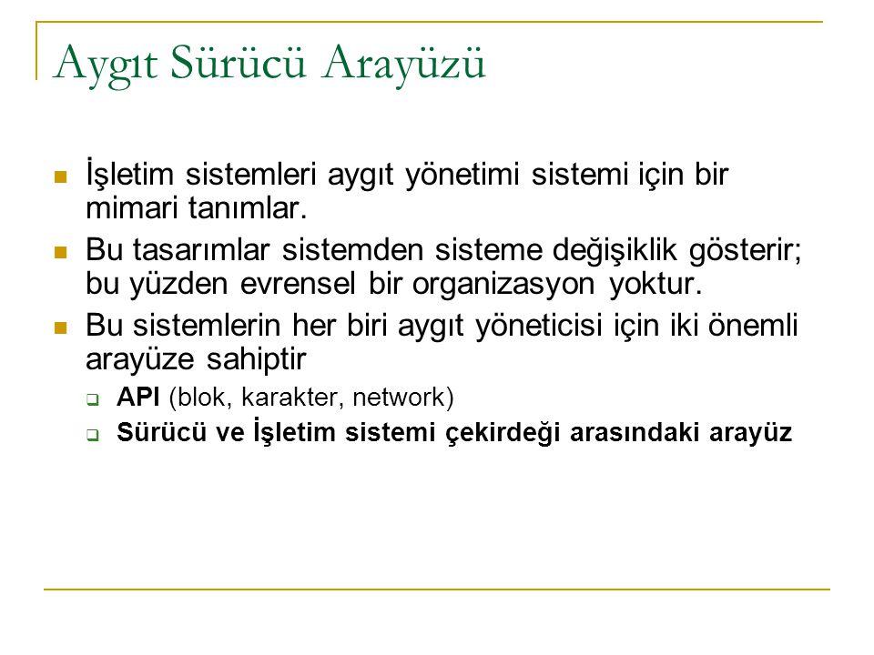 Aygıt Sürücü Arayüzü İşletim sistemleri aygıt yönetimi sistemi için bir mimari tanımlar.