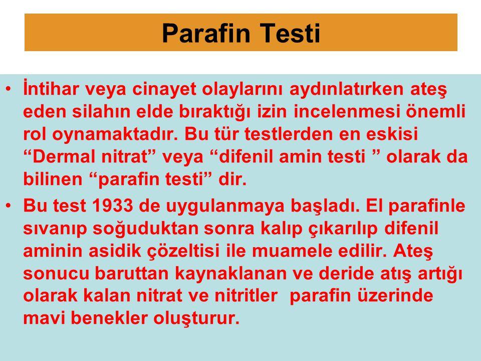 Parafin Testi