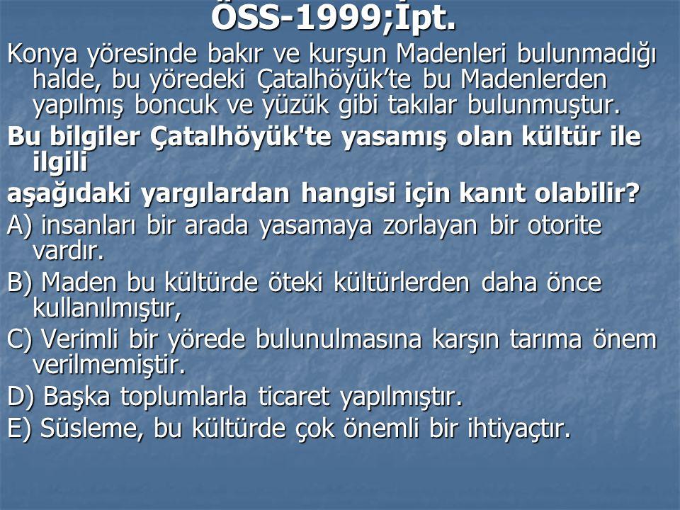 ÖSS-1999;İpt.