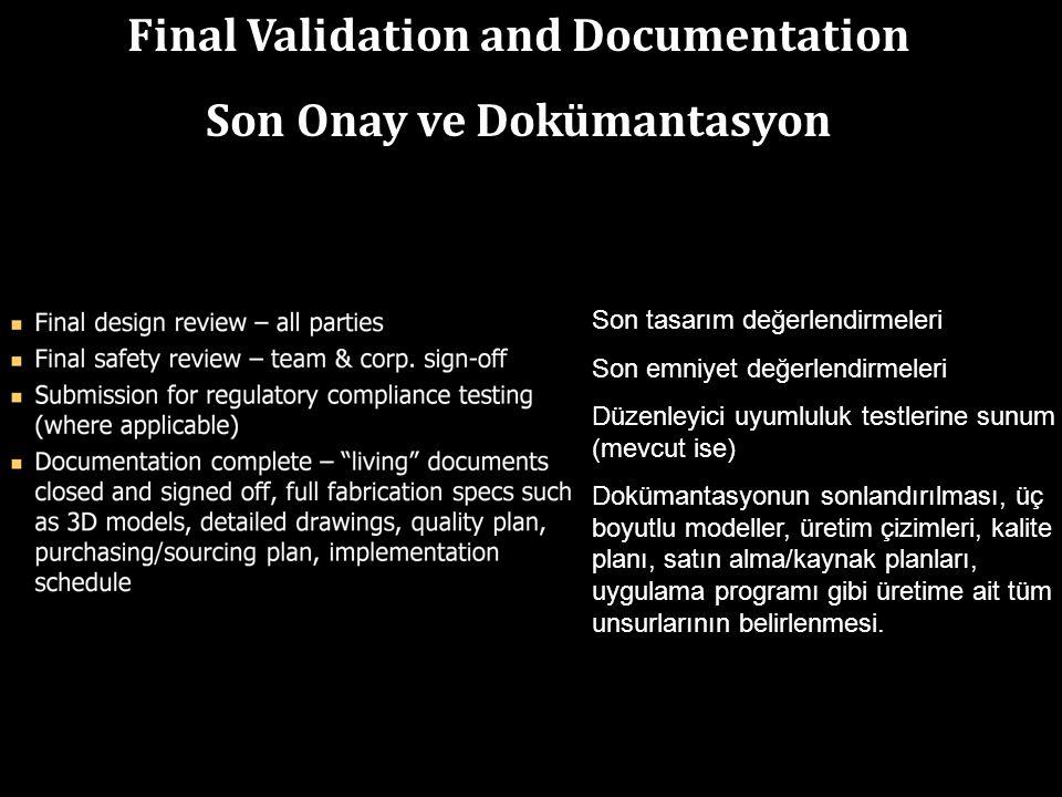 Final Validation and Documentation Son Onay ve Dokümantasyon