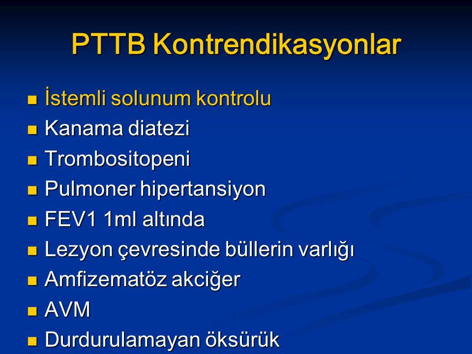 PTTB Kontrendikasyonlar