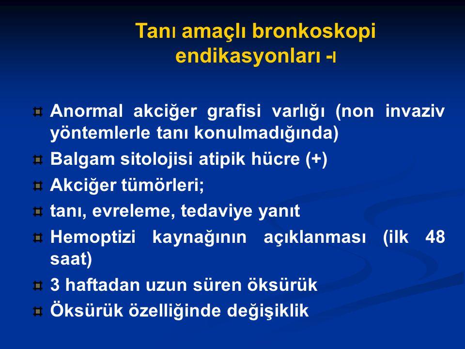 Tanı amaçlı bronkoskopi endikasyonları -I