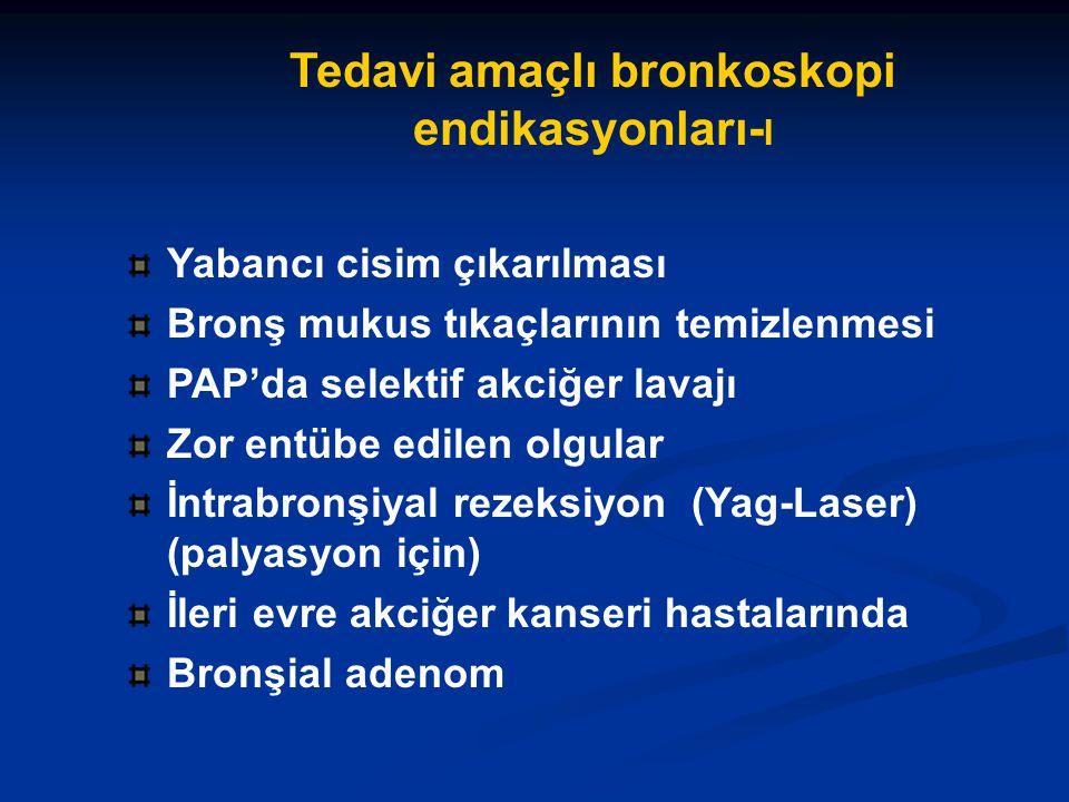 Tedavi amaçlı bronkoskopi endikasyonları-I