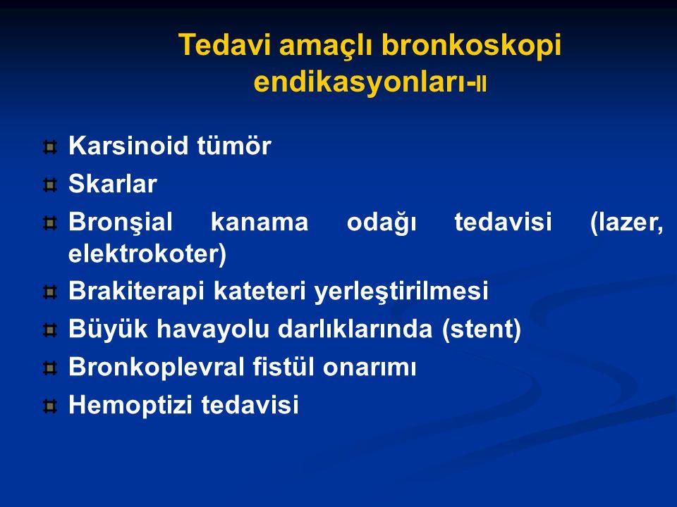 Tedavi amaçlı bronkoskopi endikasyonları-II