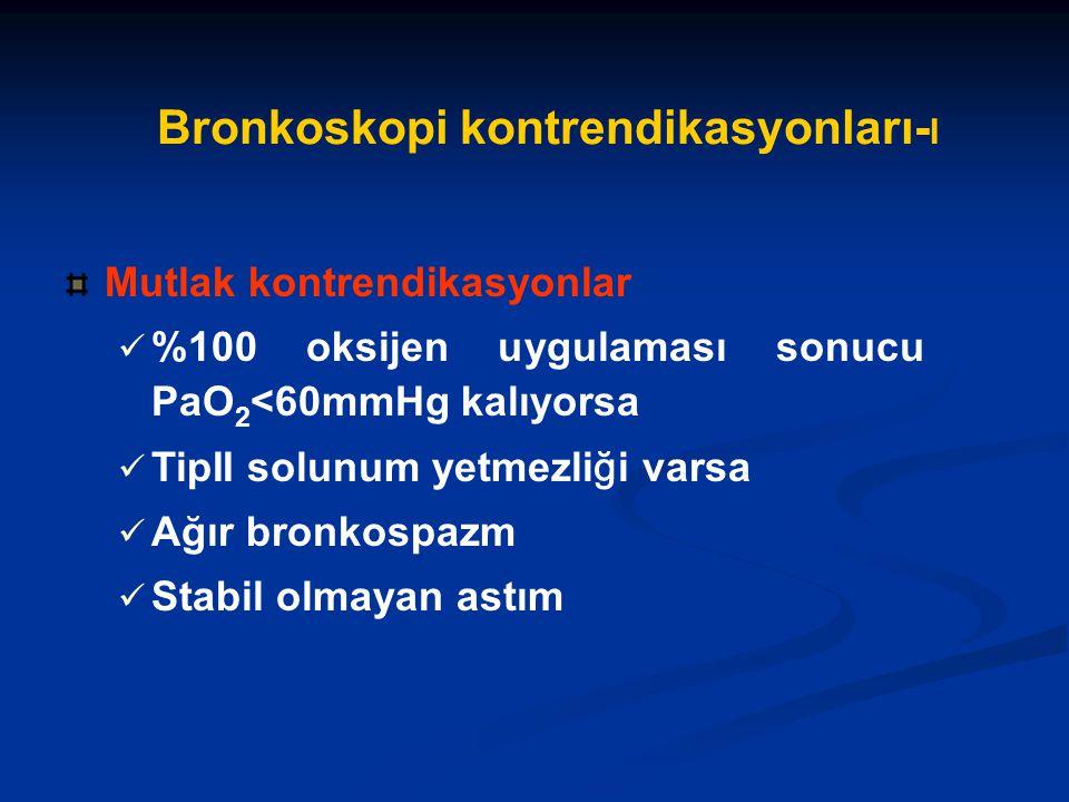Bronkoskopi kontrendikasyonları-I