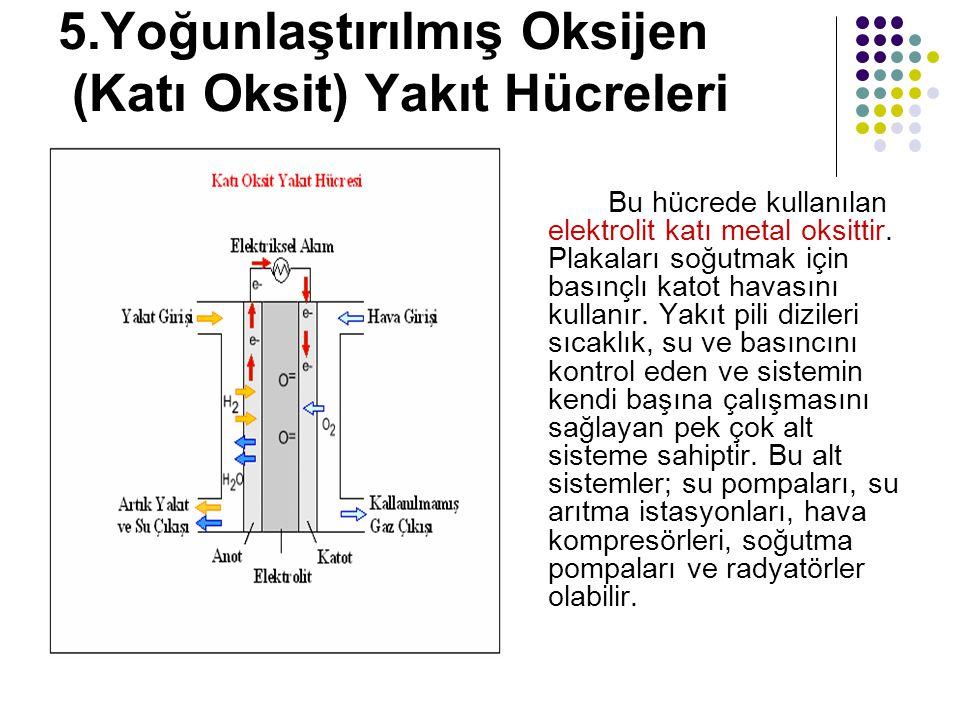 5.Yoğunlaştırılmış Oksijen (Katı Oksit) Yakıt Hücreleri