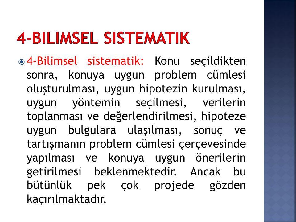 4-Bilimsel sistematik