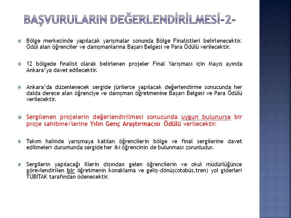 BAŞVURULARIN DEĞERLENDİRİLMESİ-2-