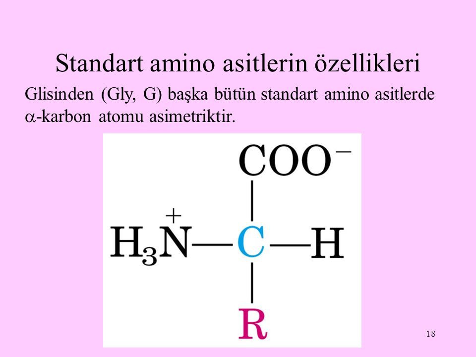 Standart amino asitlerin özellikleri