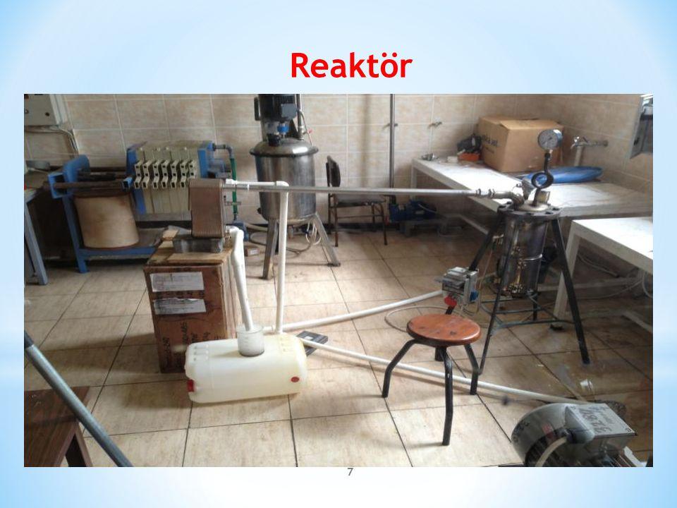 Reaktör Bu resimde reaktörün son halini görüyorsunuz.