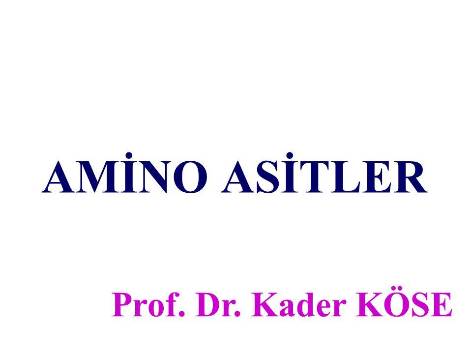 AMİNO ASİTLER Prof. Dr. Kader KÖSE