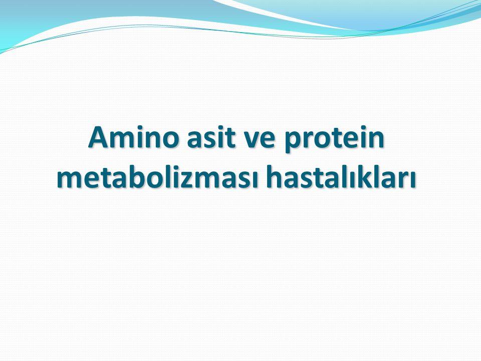 Amino asit ve protein metabolizması hastalıkları