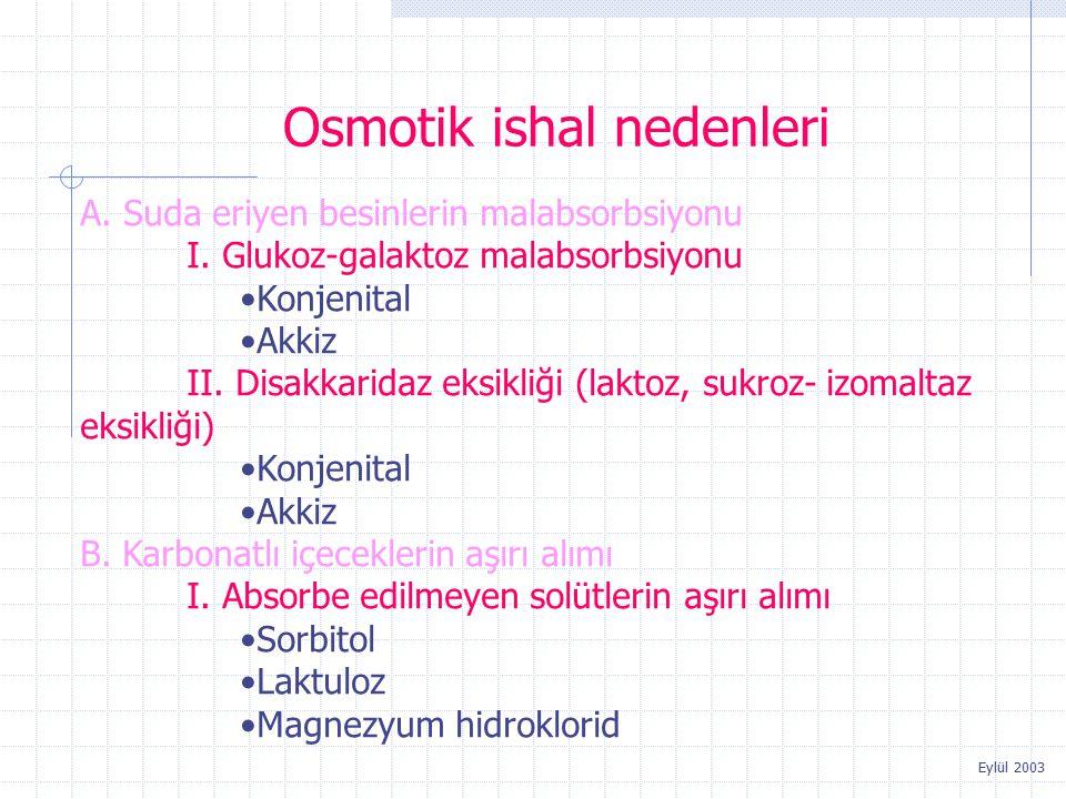 Osmotik ishal nedenleri