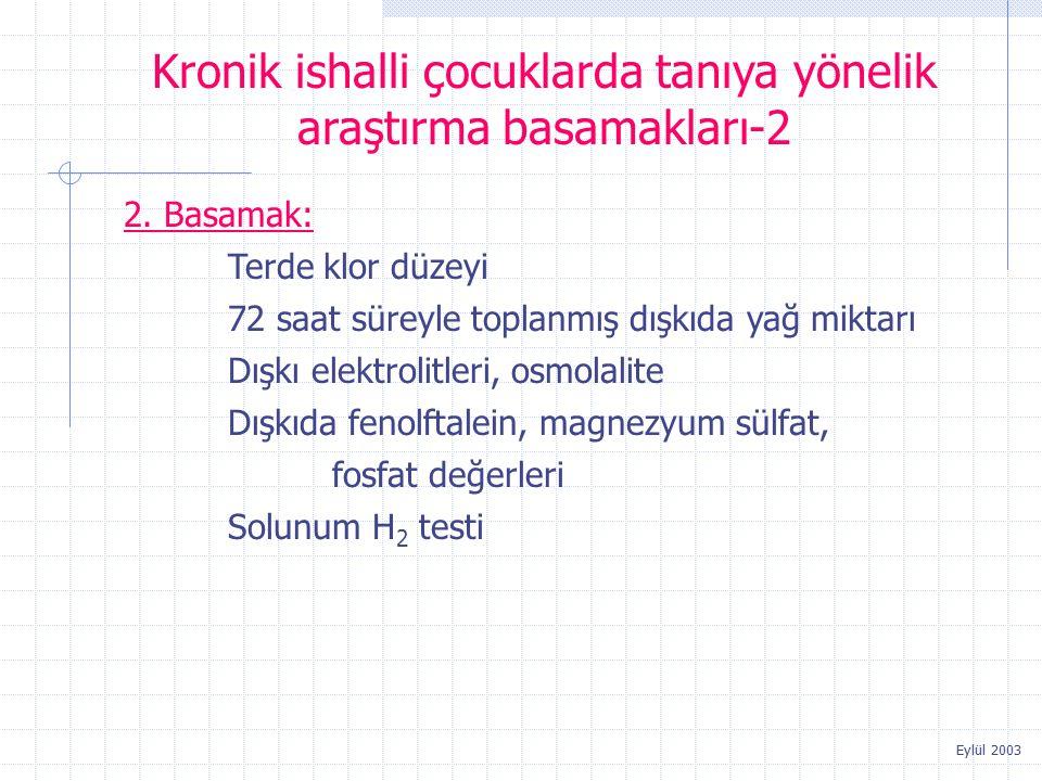 Kronik ishalli çocuklarda tanıya yönelik araştırma basamakları-2