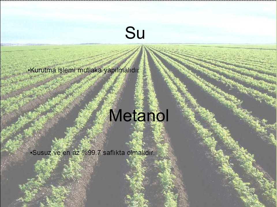 Su Metanol Kurutma işlemi mutlaka yapılmalıdır
