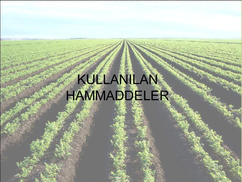 KULLANILAN HAMMADDELER