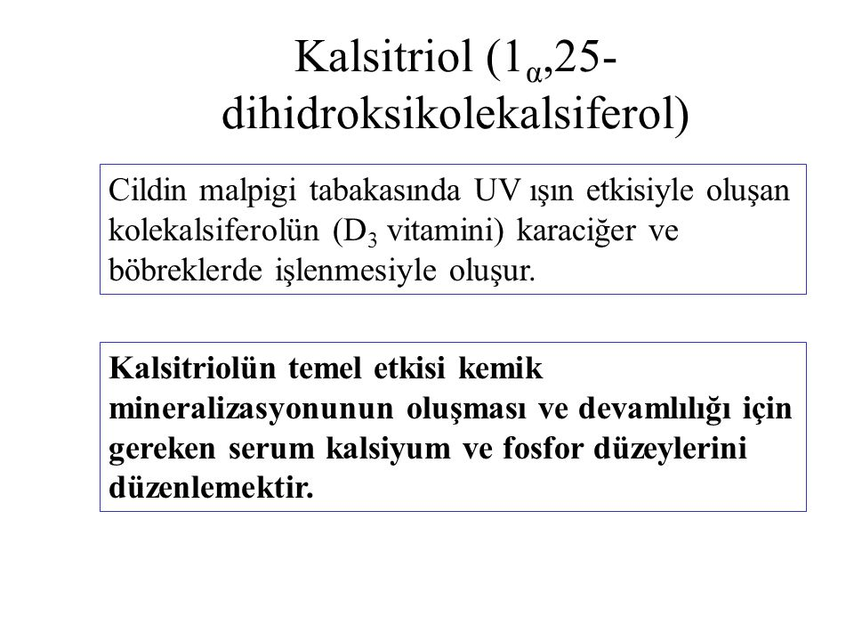 Kalsitriol (1α,25-dihidroksikolekalsiferol)