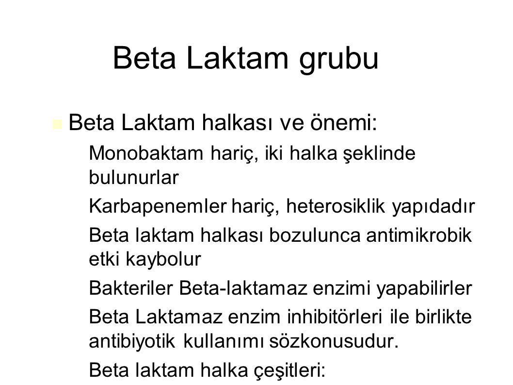 Beta Laktam grubu Beta Laktam halkası ve önemi: