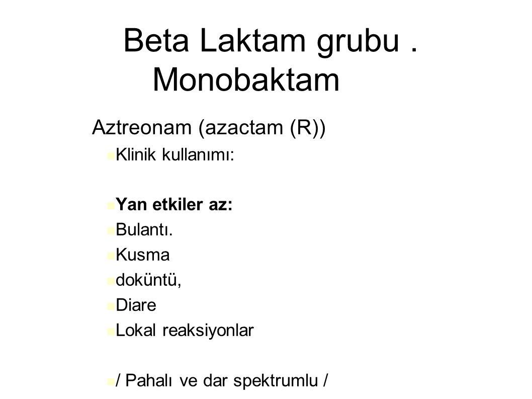 Beta Laktam grubu . Monobaktam