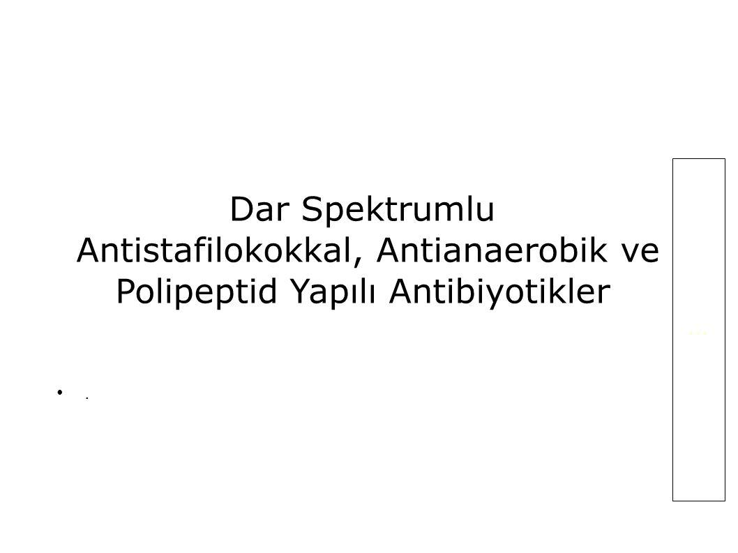 Antistafilokokkal, Antianaerobik ve Polipeptid Yapılı Antibiyotikler