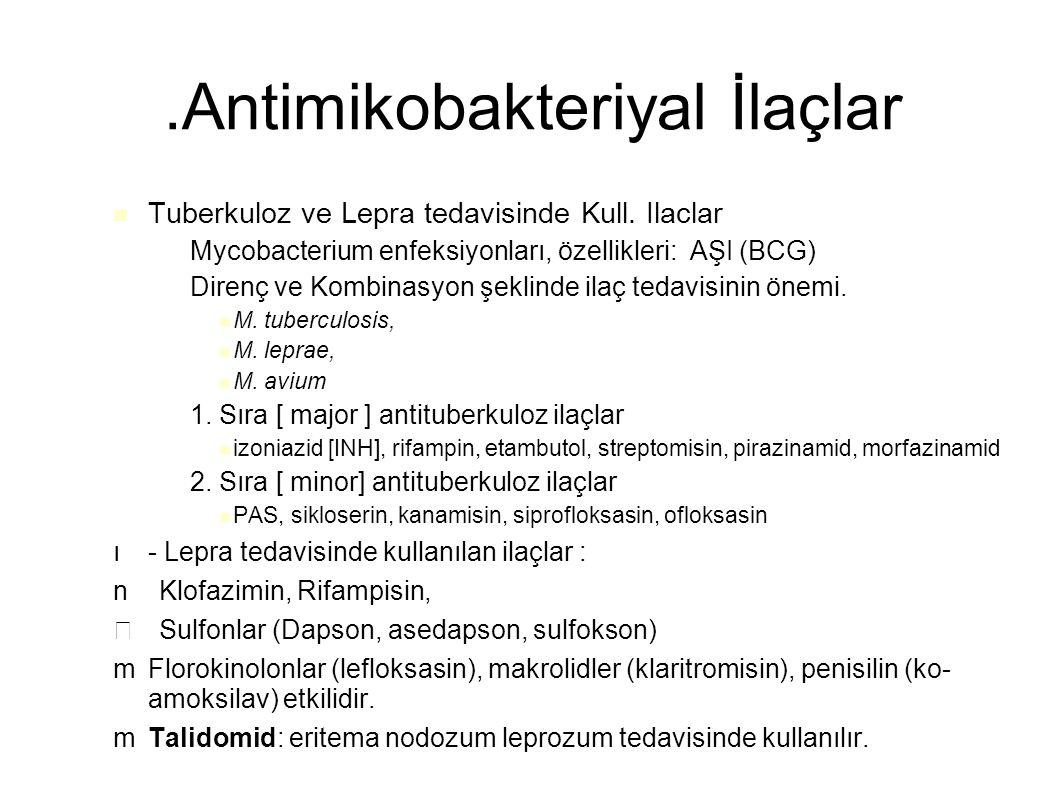 .Antimikobakteriyal İlaçlar