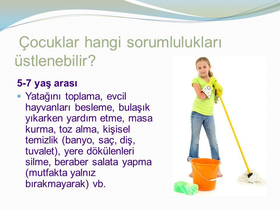 Çocuklar hangi sorumlulukları üstlenebilir