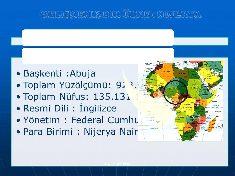 Gelişmemiş bir ülke : Nijerya