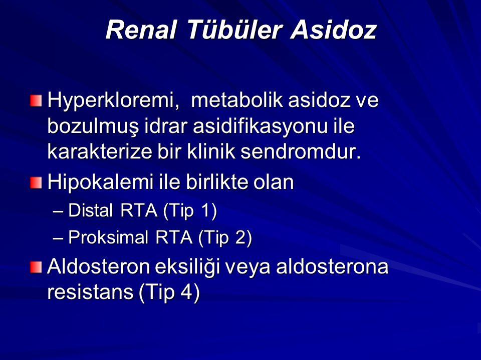 Renal Tübüler Asidoz Hyperkloremi, metabolik asidoz ve bozulmuş idrar asidifikasyonu ile karakterize bir klinik sendromdur.