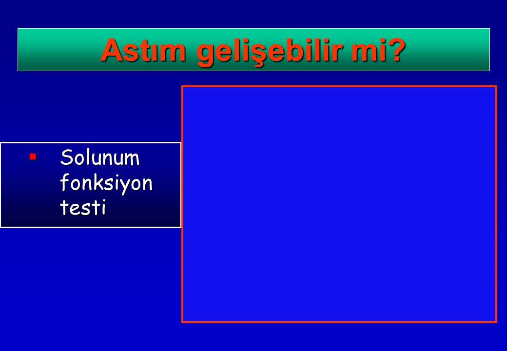 Astım gelişebilir mi Solunum fonksiyon testi