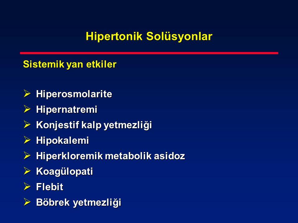 Hipertonik Solüsyonlar
