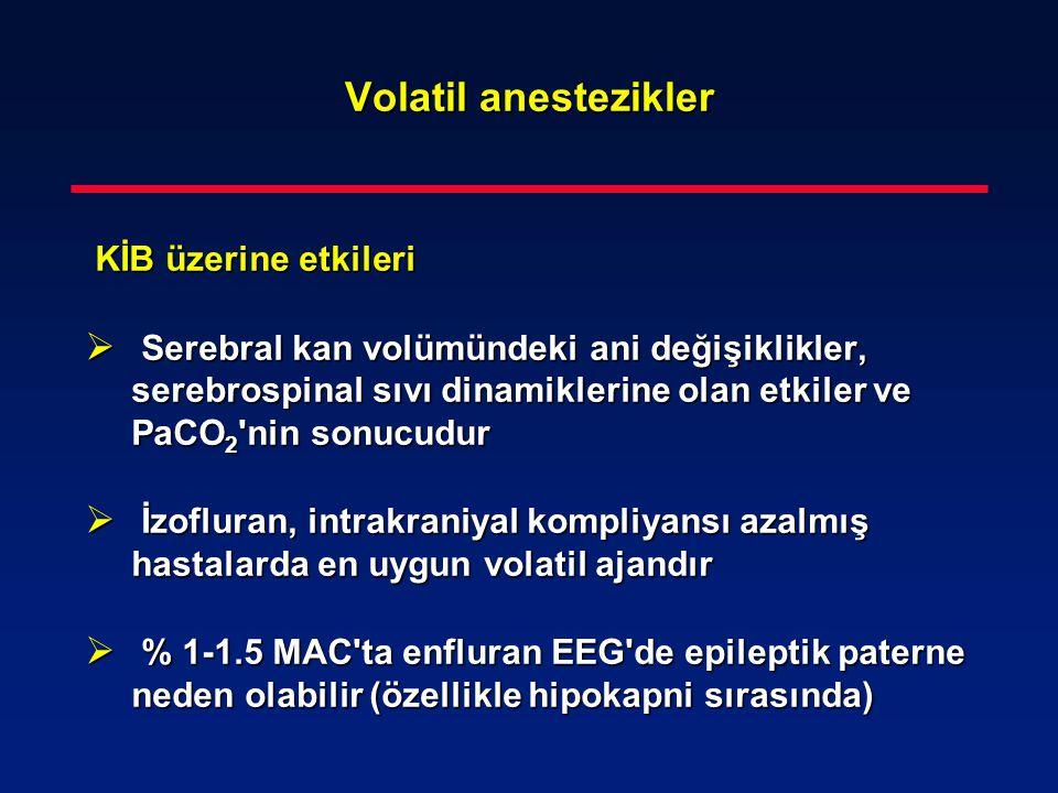 Volatil anestezikler KİB üzerine etkileri